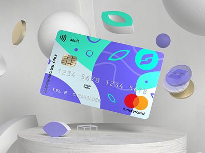 Credit card design concept redshift3d fintech floating design cinema4d branding redshift banking 3d art 3d creditcard finance