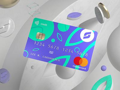Credit card design concept technology money floating fintech finance branding redshift cinema4d bank banking 3d design
