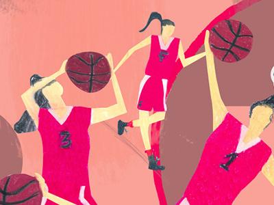 Basketball basketball sport woman team uniform pink