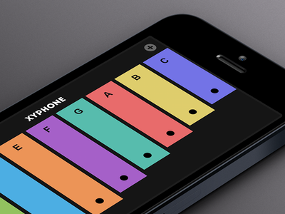 Simple Xylophone for iOS flat iphone ios colors xylophone xyphone