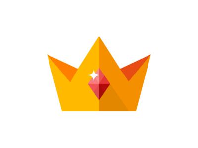 Flat Crown flat icon glyph crown gold king premium