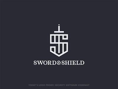 Sword & Shield security (day 12 of 99) thirtylogoschallenge thirtylogos logo design vector illustrator