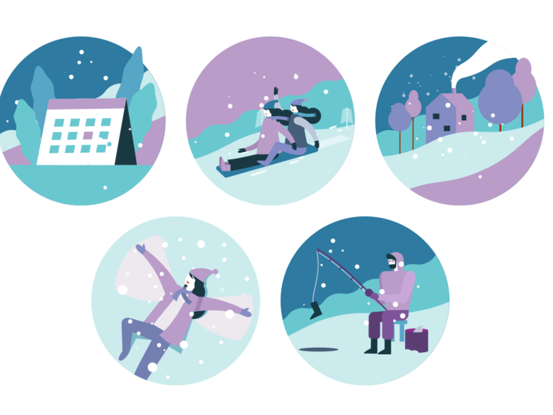 WeekOfIcons Project: Free Winter Activity Icons!! adobe iconfinder weekoficons free download free seasonal snows activity winter graphic design flat vector illustration ui icon