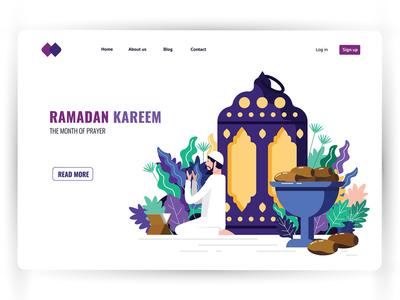 Month of Ramadan : landing page