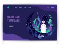 Ramadan Kareem landing page.