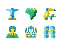 Brazil flat icons