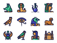 Ancient Egypt Icons.