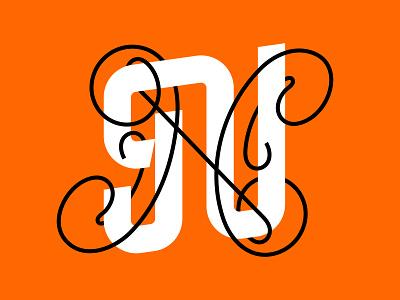 Letter N letter n 36 days of type minimal custom type graphic lettering type graphic design design typography