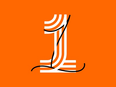 Number 1 number 1 36 days of type 36daysoftype custom type graphic lettering type graphic design design typography
