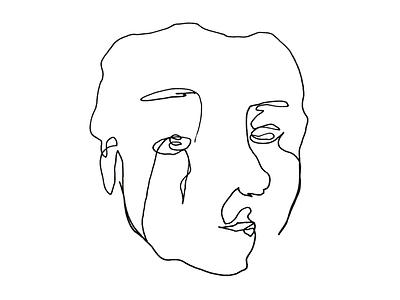 blind contour illustraion design art