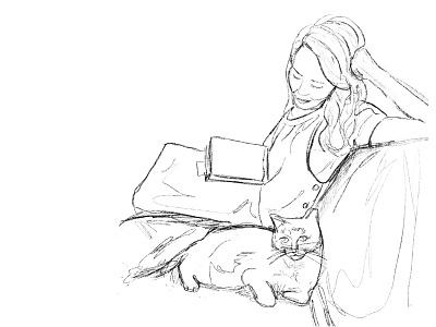 self portrait ink illustrator artwork illustraion drawing art