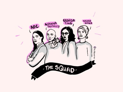 The Squad illustration illustraion drawing art