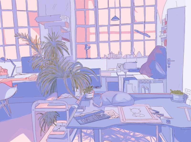 Studio space sketch design illustration artwork illustraion drawing art illustrator