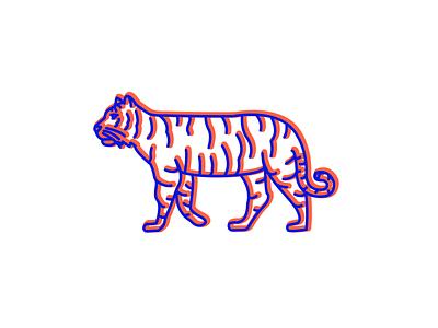 3D Tiger logo design drawing artwork illustraion logo illustrator
