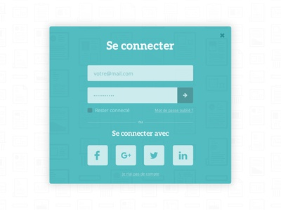 Login Popup - Tipmee social button submit pattern background field input password sign in popup popin login