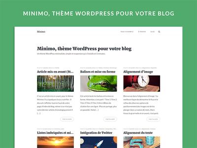 Minimo - WordPress theme content blog page writer template article post blogging minimalist blogs theme wordpress