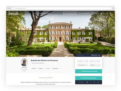 Product page - Squarebreak amenities white header reservation hero property luxury location rental villa product page squarebreak