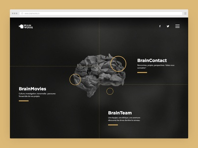 Documentary agency - Brainworks.tv team projects website circles homepage tv brainworks documentary portfolio webdesign agency