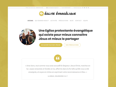 Frenchy WordPress Church Theme minimalist quote homepage spirituality god faith religion christian churches church theme wordpress