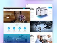 Web Design for a 3D Printer Company Service