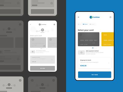 Checkout App - UI Design interaction design mockup design mobile app design high fidelity ux design user experience design sketch ui design