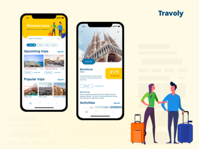 Travoly - Travel App design