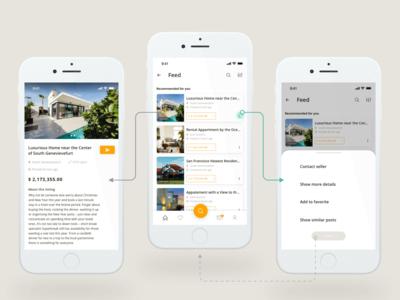 Listing Houses App Mockups
