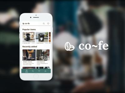 co~fe App Design Process