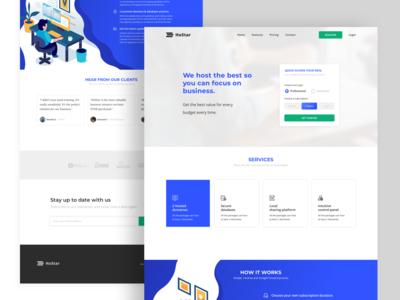HoStar Landing Page Design