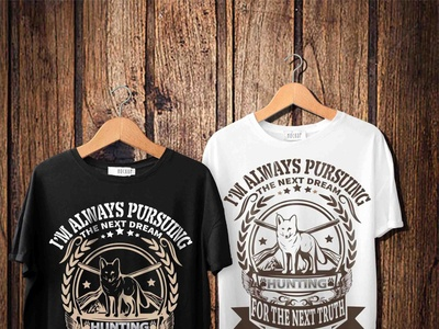 Hunting typograpy t shirt design