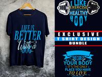 Exclusive trendy t shirt design template