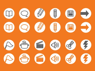 Icons for activities