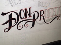 """Lettering """"Don Profetico"""" 2"""