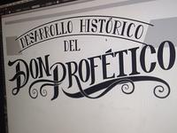 """Lettering """"Don Profetico"""" 3"""