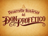 """Lettering """"Don Profetico"""" 4 (Final)"""