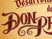 """Lettering """"Don Profetico"""" 5 (Detalle)"""