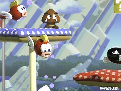 Mario Bros Foes animation nintendo mariobros illustration zbrush render character design 3d art 3d artist 3d