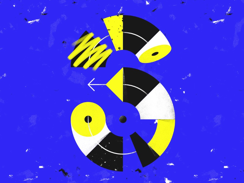 Letter S - 36 Days of Type brushes texture blue design graphic yellow custom letters typography type 36days 36daysoftype