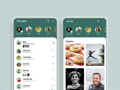 WhatsApp Redesign user experience userinterface design uxdesign uidesign ui uxui illustration adobexd apple appdesign logo design app graphic apple design designinspiration design art