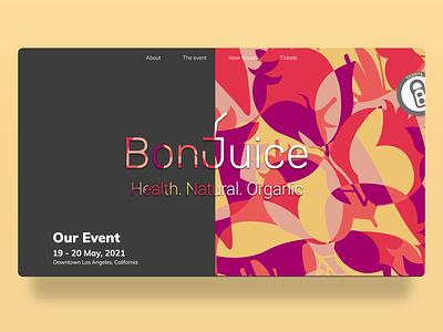 BonJuice Web Design graphic  design designinspiration website design visual identity visual design brand design adobe xd adobexd illustrations user experience userinterface ux uxui ui graphicdesign graphic web design webdesign website web