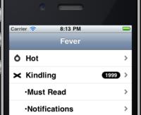 Fever client for iOS