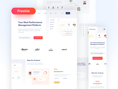 Performance Landing Page landing page ui web figma typography 2020 trend ux freebie free website design