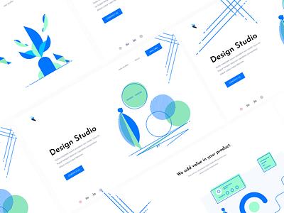 Rudrisha's Illustration Library debutshot figma website ui web vector design illustration