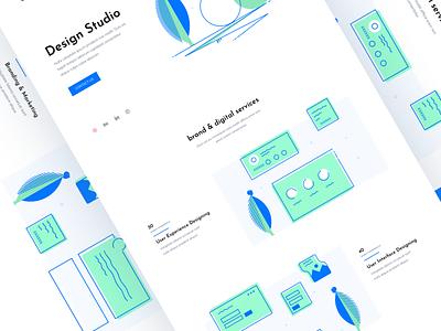 Landing Page Design logodesign creative agency creative design creative design 2020 trend illustraion uxui ux web webdesign website landing page landingpage