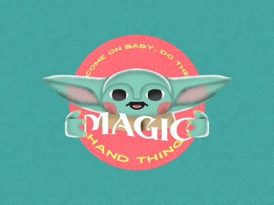 Out of Ideas the mandalorian star wars baby yoda design vector illustration typography