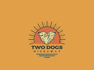 Two Dogs Hideaway Branding illustrator photoshop branding and identity logo illustration labrador retriever camping
