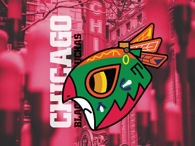 Chicago Black Hawluchas vector branding design branding and identity branding photoshop illustrator illustration