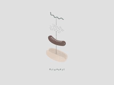 Sausage Sequence bratwurst milwaukee vector design illustrator photoshop illustration