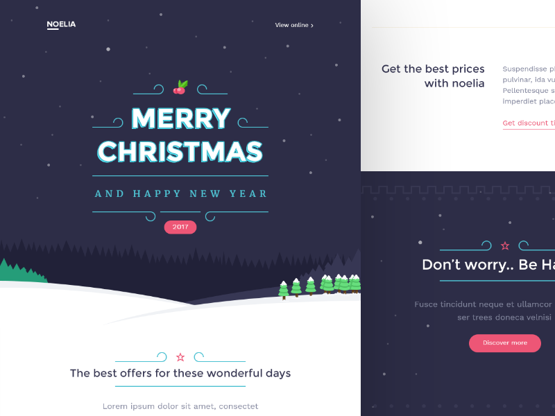 Noelia Christmas Email Templates By Walid Beno Dribbble Dribbble