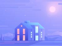 House  / Landscape illustration